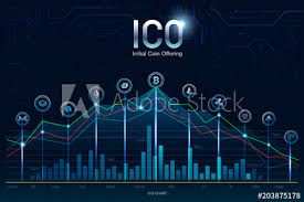Ico Initial Coin Offering Digital Electronic Binary Money