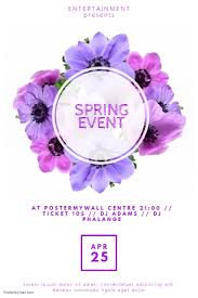 Spring Event Flyer Spring Event Flyer Template For Spring Postermywall