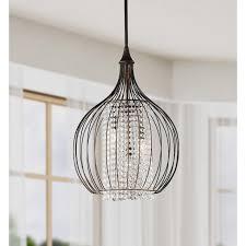monika indoor 3 light copper crystal pendant chandelier 24 h x 15