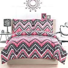 chevron bed set girl teen kid zigzag chevron black white pink twin full queen girl teen