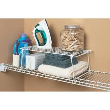 stack and hang shelf wire hanging kit organizer storage white by closetmaid