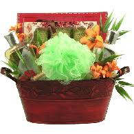 exotic temptations spa gift basket for her