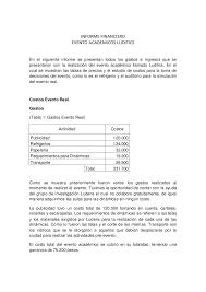 Informe Financiero Informe Financiero