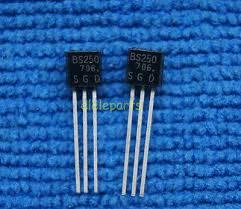 <b>50pcs</b> BS250 P Channel MosFET TO-92 <b>Brand New</b> | eBay