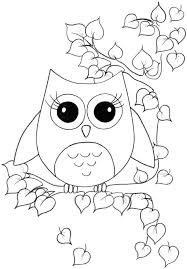 Small Picture owl coloring pages for kids Pinteres