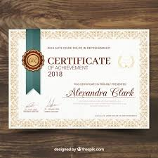 Certificate Of Recognition In Vintage Style Vector | Free Download