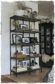industrial bookcase shelf unit with ladder doors target