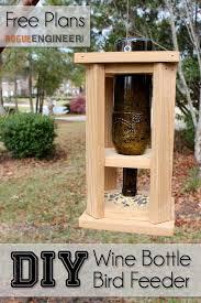 diy wine bottle bird feed free plans rogue engineer