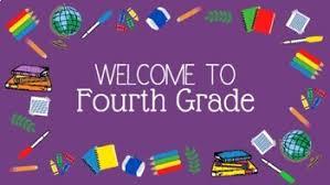 Zoom & Desktop Background: Welcome to Grade Four/Fourth Grade (School  Supplies)