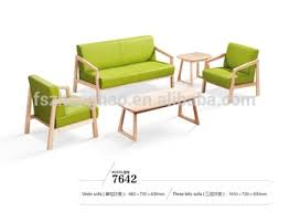 small office sofa. Wooden Armrest Leather Sofa Design Small Office Set R
