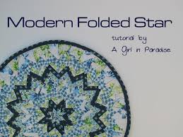 Looking for your next project? You're going to love Modern Folded ... & Modern Folded Star Mini Quilt Tutorial by A Girl in Paradise Ohhhh nooooo. Adamdwight.com