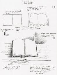 adron s art lesson plans how to draw an open book with pen and ink for