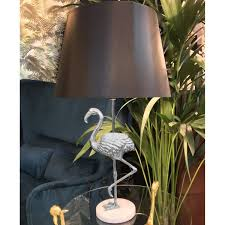 Silver Flamingo Table Lamp Culinary Concepts