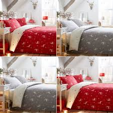 fusion reindeer 100 brushed cotton flannelette duvet cover set