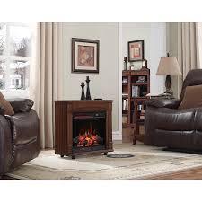 com chimneyfree electric infrared quartz fireplace with remote 5 200 btu cherry home kitchen
