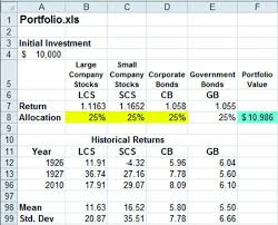 Financial Model Excel Spreadsheet Chapter 9 Portfolio Models Financial Modeling With