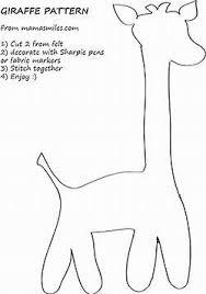 Giraffe Printable Template Image Result For Giraffe Pattern Template Felt Baby Quilt