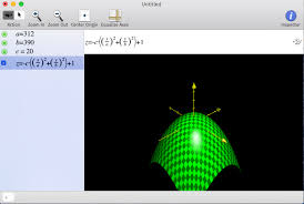 you can use this app to build 2d and 3d graphs i use it a lot when modeling mathematical functions it s very handy in the top command line you can write