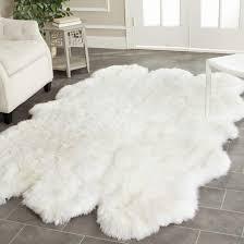 faux sheepskin area rug white faux fur rugs faux bear skin rugs for