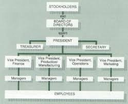Typical Corporate Organizational Chart Business
