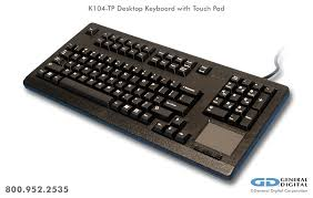 commercial grade 104 key desktop keyboard with touch pad