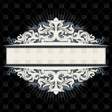 decorative vintage frame black and white vector image vector ilration of borders and frames to zoom