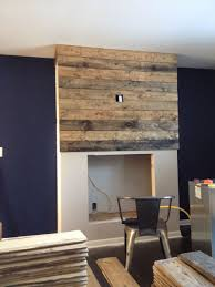 how to create a diy reclaimed wood fireplace surround for