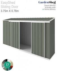 easyshed 3 75 x 0 78m sliding door skillion