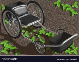 garden seat with wheels vector image