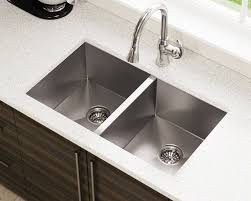d double equal rectangular stainless steel kitchen sink