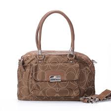 Coach Kristin Lock Signature Medium Brown Totes EXK