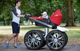 off road baby stroller  cool ideas for skodas manly baby