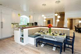 l shaped dining table attractive kitchen dining room decorating ideas pendant lamps above l shaped kitchen