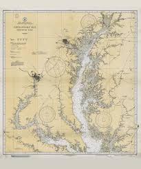 Historical Nautical Chart 77 08 1933 Chesapeake Bay Northern Part