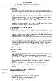Operation Planner Resume Samples Velvet Jobs