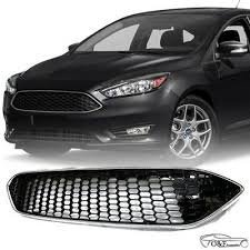 For 2015 2018 Ford Focus Front Bumper Upper Grille Honeycomb Style Grill Ebay