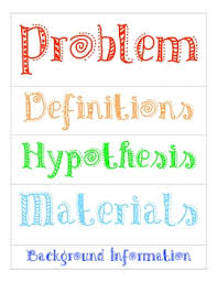 Science Project Labels Printable Science Fair Labels For Poster By Caroline Sweet Tpt
