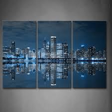 dark blue wall canvas