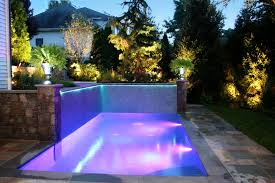 pool waterfall lighting. Modern Outdoor Lighting For Swimming Pool And Waterfall From