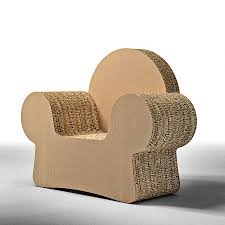 Corrugated Cardboard Furniture Design Armchair Made Of Cardboard With Armrests Mickey Cat Diy