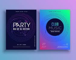 Music Club Party Flyer Template Design Vector - Download Free Vector ...