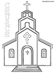 Church Coloring Pages Printable Nice Design Picture Of Best Place To