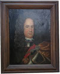antique oil painting of charles iii of spain