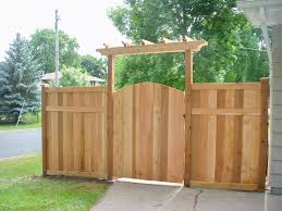 double fence gate. Again, Double Gate And Slightly Wider Arbor @ For The Side Of House Next Fence