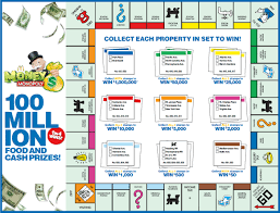 mcdonalds monopoly 2016 game board