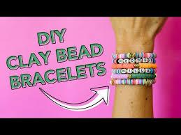 how to make diy clay bead bracelets