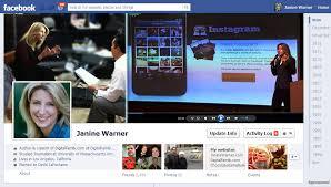 janine warner facebook profile timeline exle