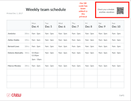 Schedule To Print How To Print A Schedule From Crew Crew Help Center