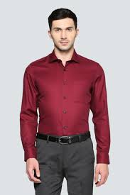 Louis Philippe Shirts Louis Philippe Red Shirt For Men At Louisphilippe Com