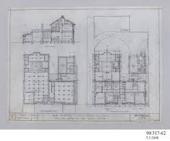 Architectural Drawing Foundation And Ground Floor Plan Bank